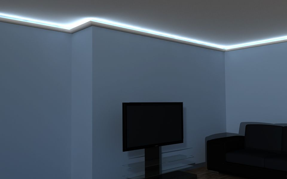LED Leiste LO1A - Stuckleisten Styropor LED