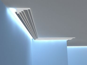 stuckleisten led lichtleisten f r indirekte beleuchtung profile. Black Bedroom Furniture Sets. Home Design Ideas