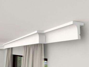 gardinenschiene mit blende gardinenleiste mit led decormarket. Black Bedroom Furniture Sets. Home Design Ideas