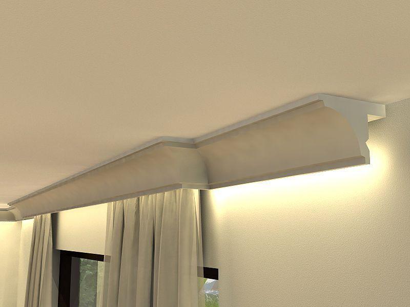stuckprofil f r vorhangschienen lko2 blende. Black Bedroom Furniture Sets. Home Design Ideas