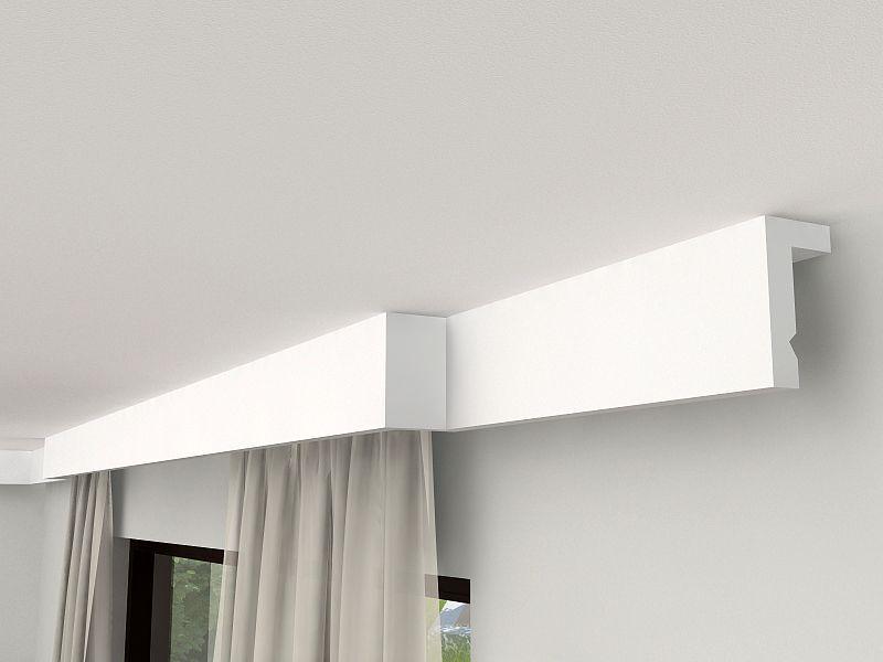 gardinenleiste blende lko3a gardinenbrett mit led. Black Bedroom Furniture Sets. Home Design Ideas